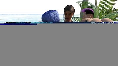 Chat Bleu Bitches On beach..