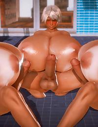 Big Tit Gyaru Futanari Hot Tub - Lusty 10 Person Hot Tub - part 3