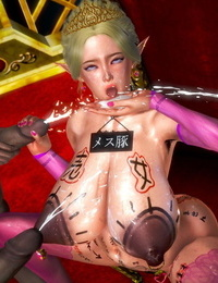 Honey Select - The fallen elf queen hypnotizes her people to sex with her