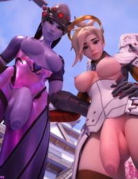 Strapy Futa Widowmaker and Mercy Overwatch