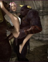 Damn3d Lacey is just a Minotaurs Slave